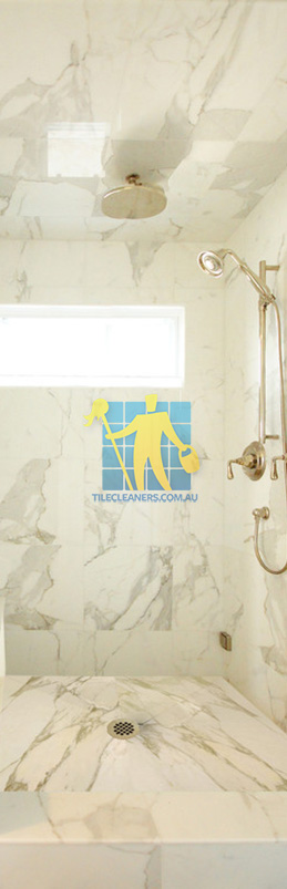 marble tiles shower wall floor calcutta polished luxury bathroom Canberra