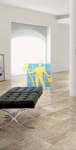 modern living room with textured rectangular porcelain tiles on floor Canberra