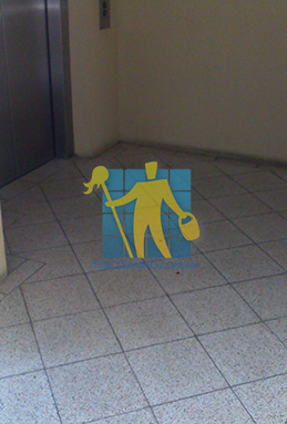 terrazzo tiles dirty floor entrance lift Molonglo Valley